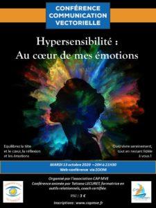"""Web-conférence """"Hypersensibilité : au cœur de mes émotions"""" @ en visio-conférence par ZOOM, le lien vous sera communiqué ultérieurement"""